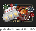 Casino Games of Fortune Conceptual Banner 3d Illustration of Casino Games Elements 43436022