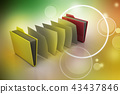 office folder with documents 43437846