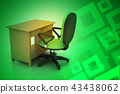 Office chair and computer table 43438062