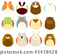 Set of avatars icons with cute animals 43438428