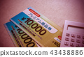 food voucher, calculator, calculation 43438886