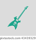 Electric guitar icon 43439329