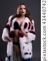 Gorgeous girl in luxurioius fur coat portrait 43440742