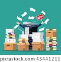 business, businessman, cartoon 43441211