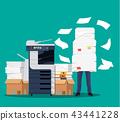 businessman, paper, pile 43441228