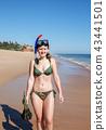 beach, female, bikini 43441501