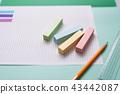 연필, 책상, 학습 43442087