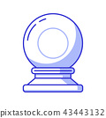 Magic Crystal Sphere or Glass Ball Icon 43443132