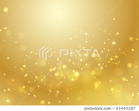 Vector abstract gold bokeh background light effect 43443287