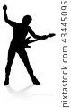 Musician Guitarist Silhouette 43445095