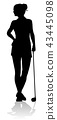 Golfer Golf Sports Person Silhouette 43445098