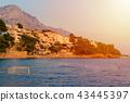water polo gates in the sea on beach, croatia 43445397