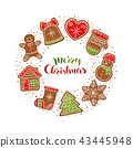 gingerbread vector collection 43445948