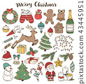 christmas doodles collection 43445951