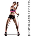 cardio boxing cross core workout fitness exercise aerobics woman 43446465