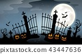 Cemetery gate silhouette theme 4 43447636