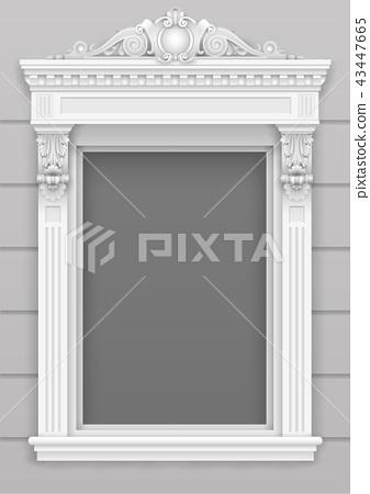 Classic white architectural window facade  43447665
