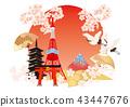 日本插圖日之丸 43447676
