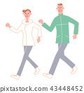 시니어 남녀 걷기 43448452