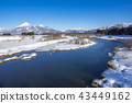 福島縣的象徵區域,日本的第四大湖,豬苗代,以及在晴朗的天氣中反映在藍色湖面上的白雪皚皚的Kuwayama之間的對比是美麗的 43449162