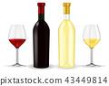 wine bottle wineglass 43449814