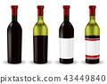 red wine bottles 43449840