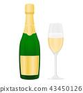 champagne sparkling wine 43450126