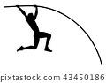 pole vault male athlete 43450186