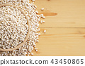 Barley rice on wooden background 43450865