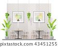 Interior scene of modern restaurant 43451255