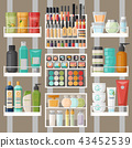 cosmetic shelf bottle 43452539