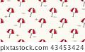 beach seamless pattern vector umbrella isolated 43453424