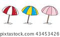 beach umbrella vector icon logo cartoon 43453426