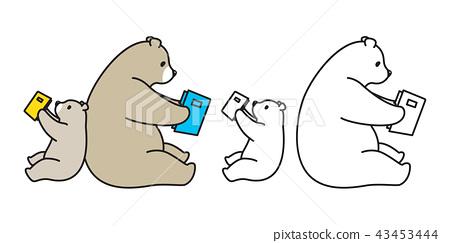bear vector polar bear logo icon panda character 43453444