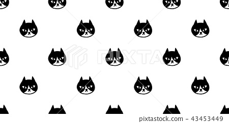 cat seamless pattern vector calico kitten isolated 43453449
