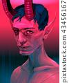 Portrait of a devil boy 43456167