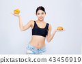 Beautiful asian woman slim shape with diet 43456919
