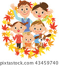 단풍 단짝 가족 미소 43459740