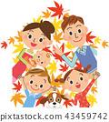 단풍 가족 미소가 43459742