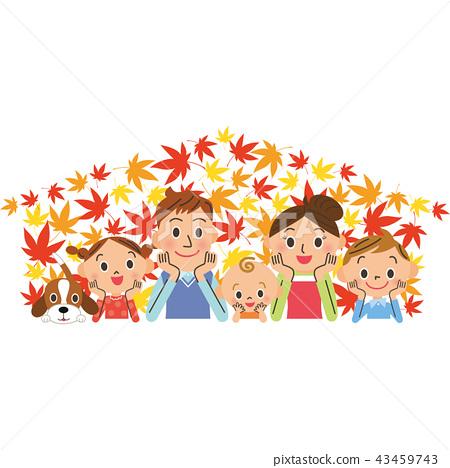 단풍 가족 미소가 43459743