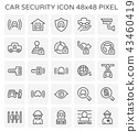 car security icon 43460419