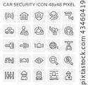 car security icon 43460419