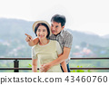 Happiness asian middle aged a couple in holiday. 43460760