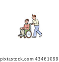 Grandpa and son of a wheelchair 43461099
