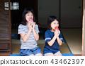 吃烏賊的小學女孩在老房子結束時 43462397