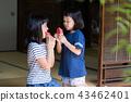 吃烏賊的小學女孩在老房子結束時 43462401