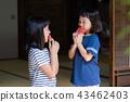 吃烏賊的小學女孩在老房子結束時 43462403