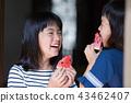 吃烏賊的小學女孩在老房子結束時 43462407