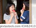 吃烏賊的小學女孩在老房子結束時 43462413