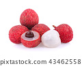 lychee isolated on white background 43462558